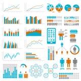 Set Infographic Elemente Schablonen für infographic Stock Abbildung