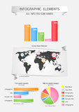 Set of Infographic Elements. Royalty Free Stock Image