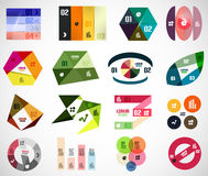 Set of infographic elements and banner templates. Set of geometrical infographic elements and banner templates Royalty Free Stock Photography