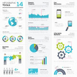 Set of infographic elements and business graphics tools Stock Photo