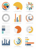 Set of infographic Elements Stock Images