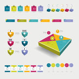 Set of infographic elements. Collection of flat and 3D objects. Vector Royalty Free Stock Photography