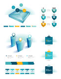 Set of infographic elements. Collection of flat and 3D objects. Vector Royalty Free Stock Photo