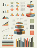 Set of infographic elements. Royalty Free Stock Photo