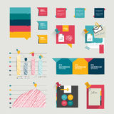 Set of infographic elements. Stock Photos