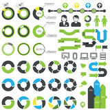 Set of infographic elements, icons and data Stock Image