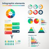 Set of infographic elements. Set of multicolored infographic elements Stock Photo