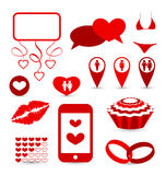Set infographic elements for valentine or wedding  Royalty Free Stock Photos