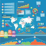 Set of Infographic Elements. Royalty Free Stock Photos