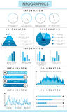 Set of infographic elements for your business reports. Creative infographic bars, pie charts, arrows and graphs for business data and professional reports Royalty Free Stock Photos