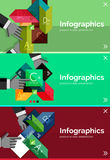 Set of infographic flat design banner with hands Stock Photography