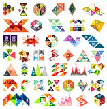 Set of infographic geometric templates - triangles Royalty Free Stock Photo
