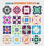 Set of infographic modern templates - squared stock illustration