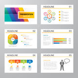 Set of infographic presentation template flat design Royalty Free Stock Photo