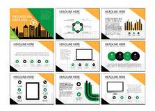 Set of infographic Presentation Template , Infographic Element , Business infographic , Layout design , Modern Style. Stock Images