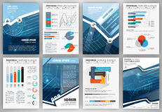 Set of infographic presentation templates, business brochures Royalty Free Stock Photo