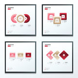Set of infographic 4 styles love style Royalty Free Stock Photos