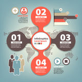 Set infographic on teamwork in business Royalty Free Stock Photo