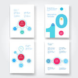 Set of infographic template layouts. Flow chart Stock Photo