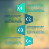 Set of infographic template layouts. Flow chart Royalty Free Stock Photo