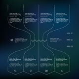 Set of infographic template layouts. Flow chart Royalty Free Stock Photography