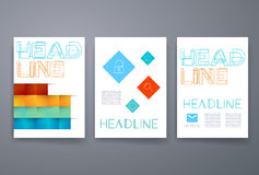 Set of infographic template layouts. Flow chart Stock Image