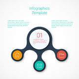 Set of infographic template layouts. Flow chart Stock Photos