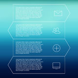Set of infographic template layouts. Flow chart Royalty Free Stock Photos