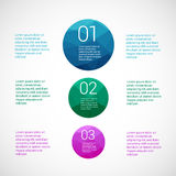 Set of infographic template layouts. Flow chart Royalty Free Stock Images