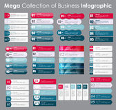 Set of Infographic Templates for Business Vector Royalty Free Stock Photography