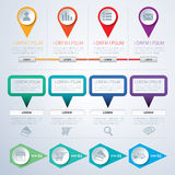 Set of infographic templates flat design Stock Images