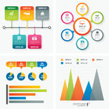 Set of infographic templates flat design. Vector set of infographic templates flat design Stock Images