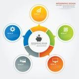 Set of infographic templates flat design Stock Image