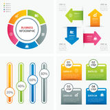 Set of infographic templates flat design. Vector set of infographic templates flat design Stock Photos