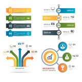 Set of infographic templates flat design. Vector set of infographic templates flat design Stock Image