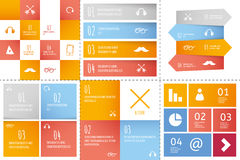 Set of infographic templates Stock Photography