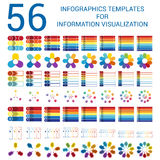 Set infographic templates for Informations Visualization Royalty Free Stock Images