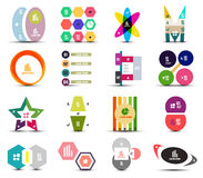 Set of infographic templates shapes elements Stock Image