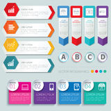 Set of infographic templates Stock Image