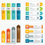 Set of infographic templates. Vector set of infographic templates Stock Photo