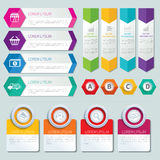 Set of infographic templates Royalty Free Stock Image
