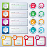 Set of infographic templates Stock Images