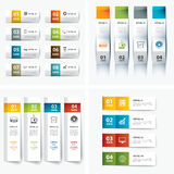 Set of infographic templates. Vector set of infographic templates Stock Images