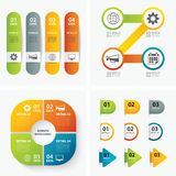 Set of infographic templates. Vector set of infographic templates Royalty Free Stock Image