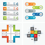 Set of infographic templates. Vector set of infographic templates Royalty Free Stock Photo