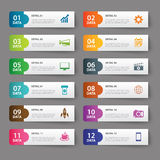 Set of infographic templates. Vector set of infographic templates Stock Photos