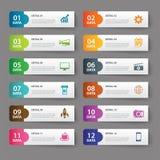 Set of infographic templates Stock Photos