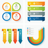 Set of infographic templates. Vector set of infographic templates Stock Image