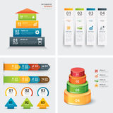 Set of infographic templates Royalty Free Stock Images