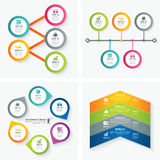 Set of infographic templates. For web and print Royalty Free Stock Photos